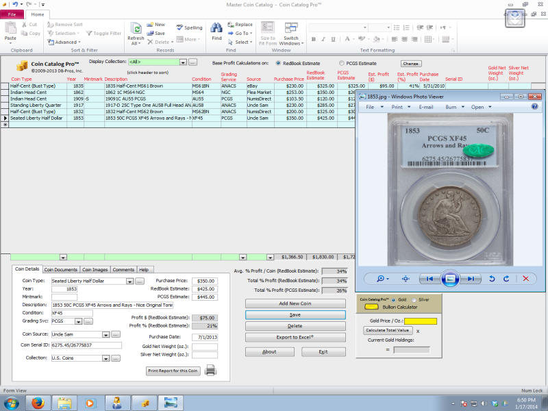 Coin Catalog Pro Collecting Database Software