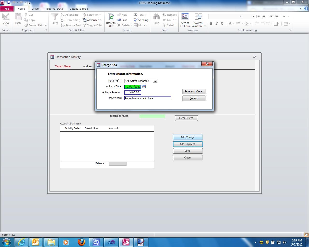 Hoa Database Software Screenshots Db Pros Cc R Template