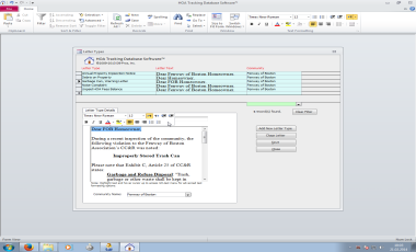 Hoa Property Management Database Software System For Hoas And Managers With Billing Cc R