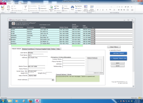 Patient Hospital Database Software™ - Database System Screenshot