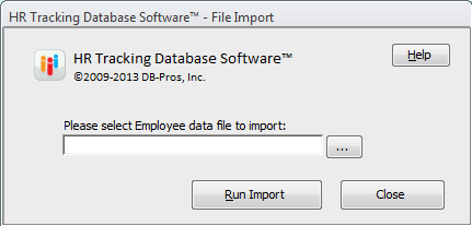 Employee HR Database - Import Data from MS Excel