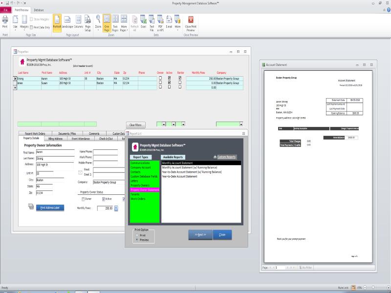 Property Management Database Software
